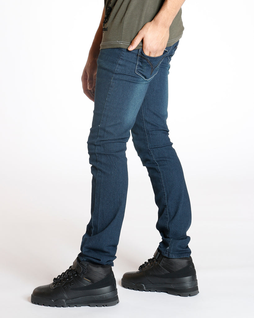 Dark Blue Slim Straight Stretch Jean