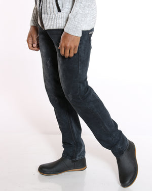 VIM Light Ripped Slim Fit Jean - Black Blue - Vim.com