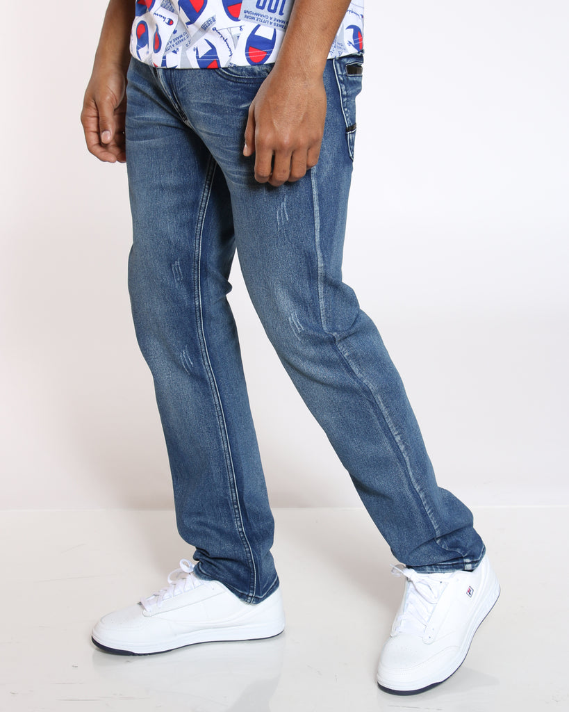 VIM Pu Pocket Trim Light Ripped Jean - Dark Blue - Vim.com