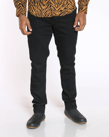 Men's Leo Skinny Fit Jean - Jet Black-VIM.COM