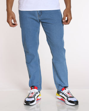 Men's Terrance Embroidered Pocket Jean - Light Blue