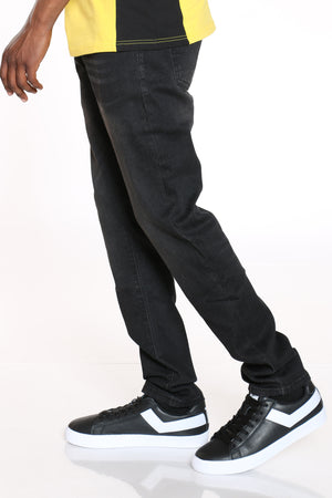 Men's Straight Leg Skinny Fit Jean - Black