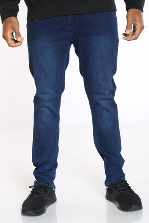 Men's Blasting Straight Fit Jean - Dark Blue-VIM.COM