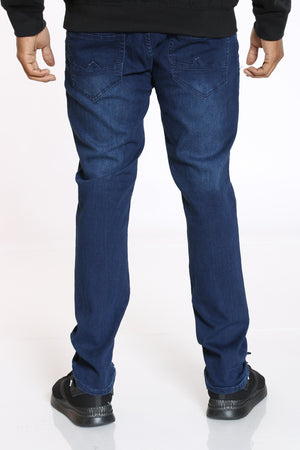 Men's Blasting Straight Fit Jean - Dark Blue