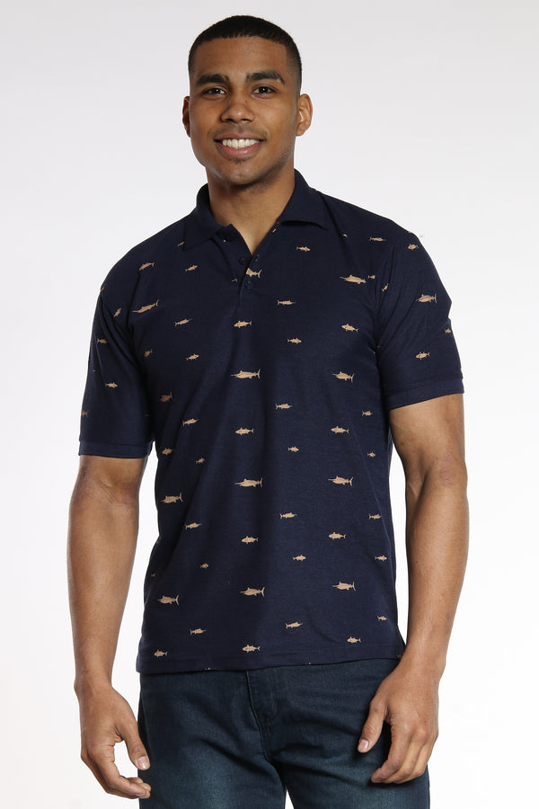 Catch Me If You Can Polo Shirt - Navy-VIM.COM