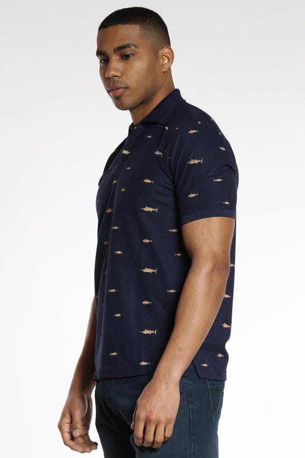 Catch Me If You Can Polo Shirt - Navy