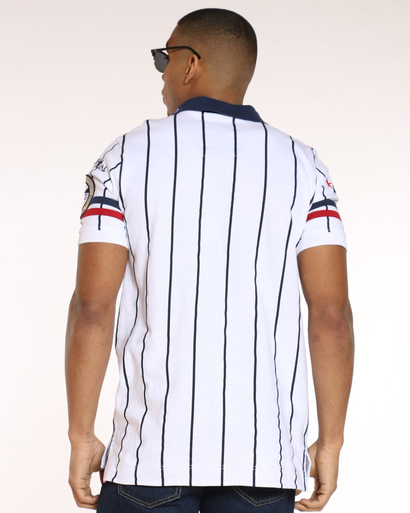 Heritage Striped Polo Shirt - White