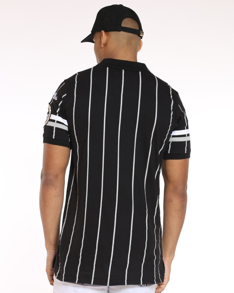 Heritage Striped Polo Shirt - Black