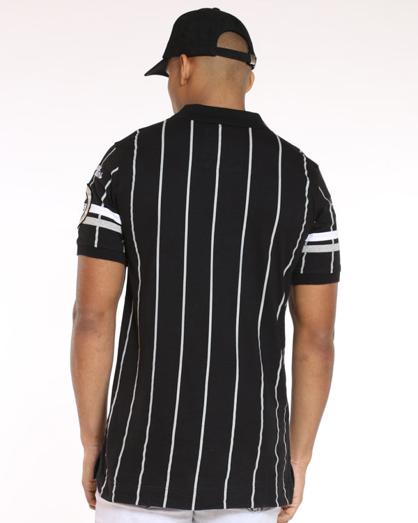 Men's Heritage Striped Polo Shirt - Black