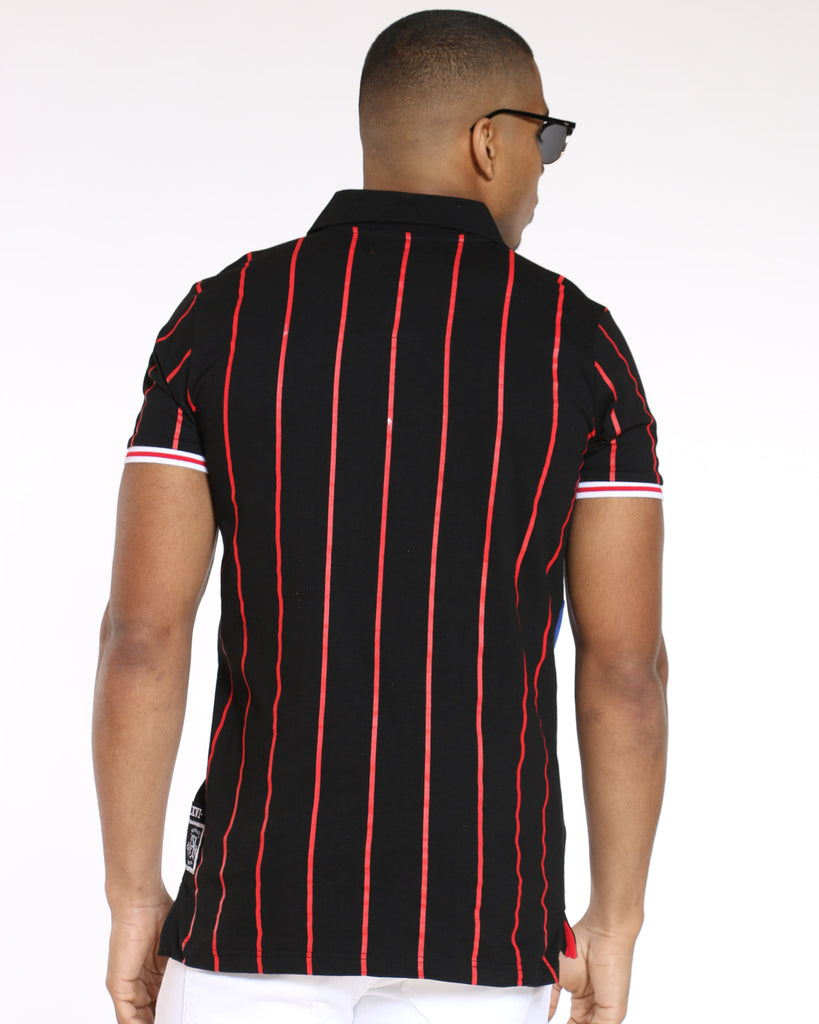 Vandals Striped Polo Shirt - Black