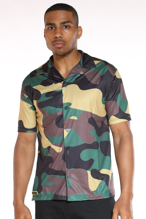 Men's Camo Jersey Polo Shirt - Forest-VIM.COM