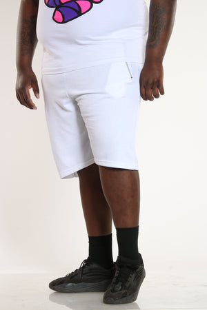 Men's French Terry Short - White-VIM.COM