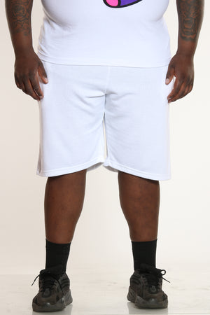 French Terry Short (Big Men) - White