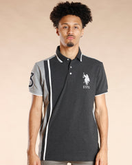 U.S. POLO ASSN. Us Polo Color Block Shirt - Black - Vim.com