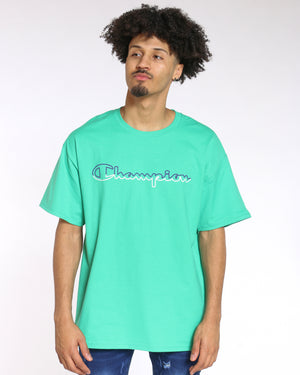 CHAMPION-Men's Champion Classic Graphic Tee - Green Myth-VIM.COM