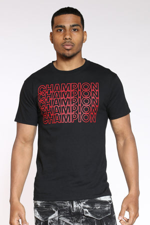 CHAMPION-Men's Repeat Tee - Black-VIM.COM