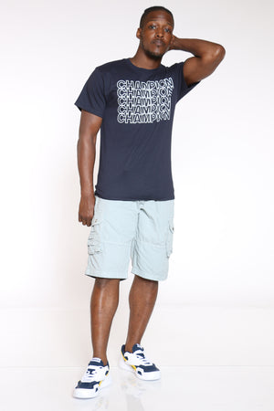 CHAMPION-Men's Repeat Tee - Navy-VIM.COM