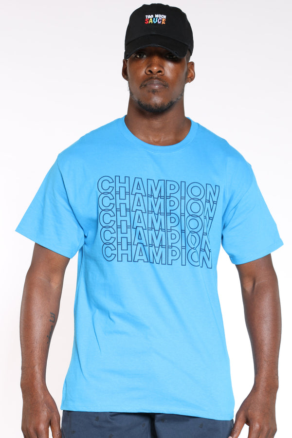 CHAMPION-Men's Repeat Tee - Deep Blue-VIM.COM