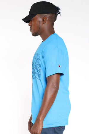 Men's Repeat Tee - Deep Blue