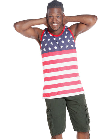 Men'S Flag Tank - Red/White/Blue