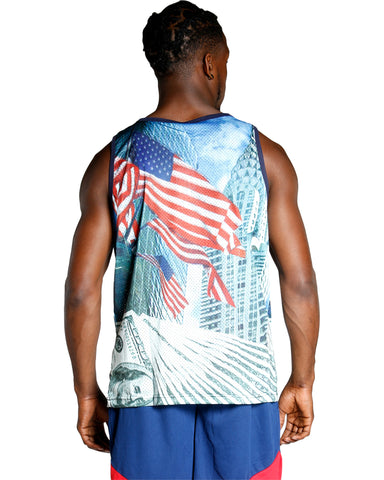 Men'S American Flag All Over Print Tank Top