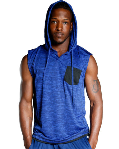 Men's HOODED MARBLE MUSCLE TANK (AVAILABLE IN 4 COLORS)