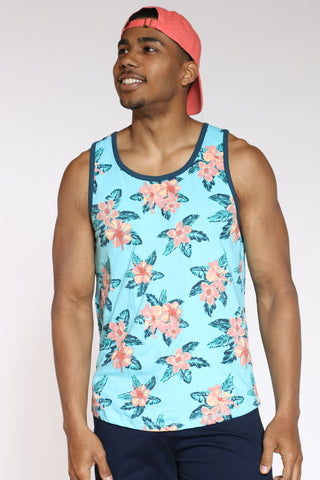 Men's Floral Tank Top - Capri