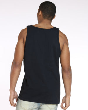 Men's Hype Script Tank Top - Black