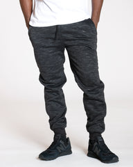 VIM Black Marbled Sherpa Lined Joggers - Vim.com