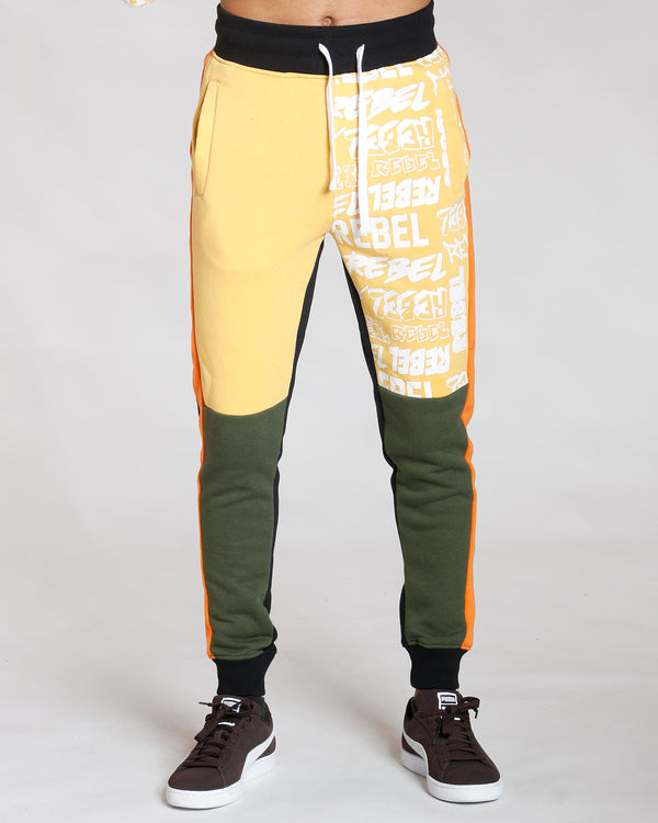 VIM Orange Color Block Jogger - Vim.com