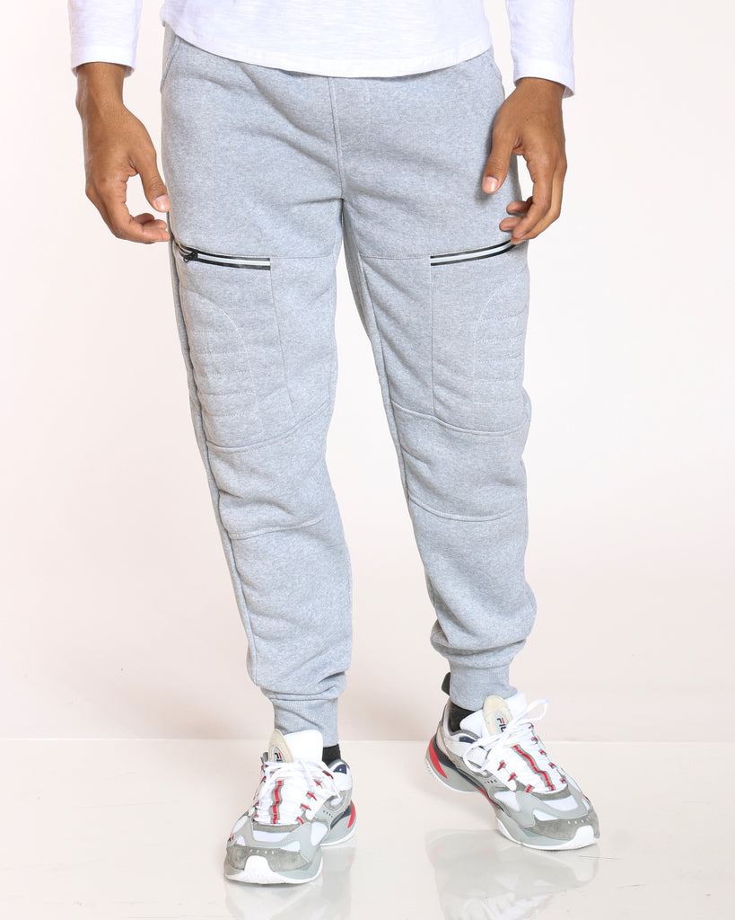 Fonz Cut & Sow Moo Fleece Jogger - Heather Grey