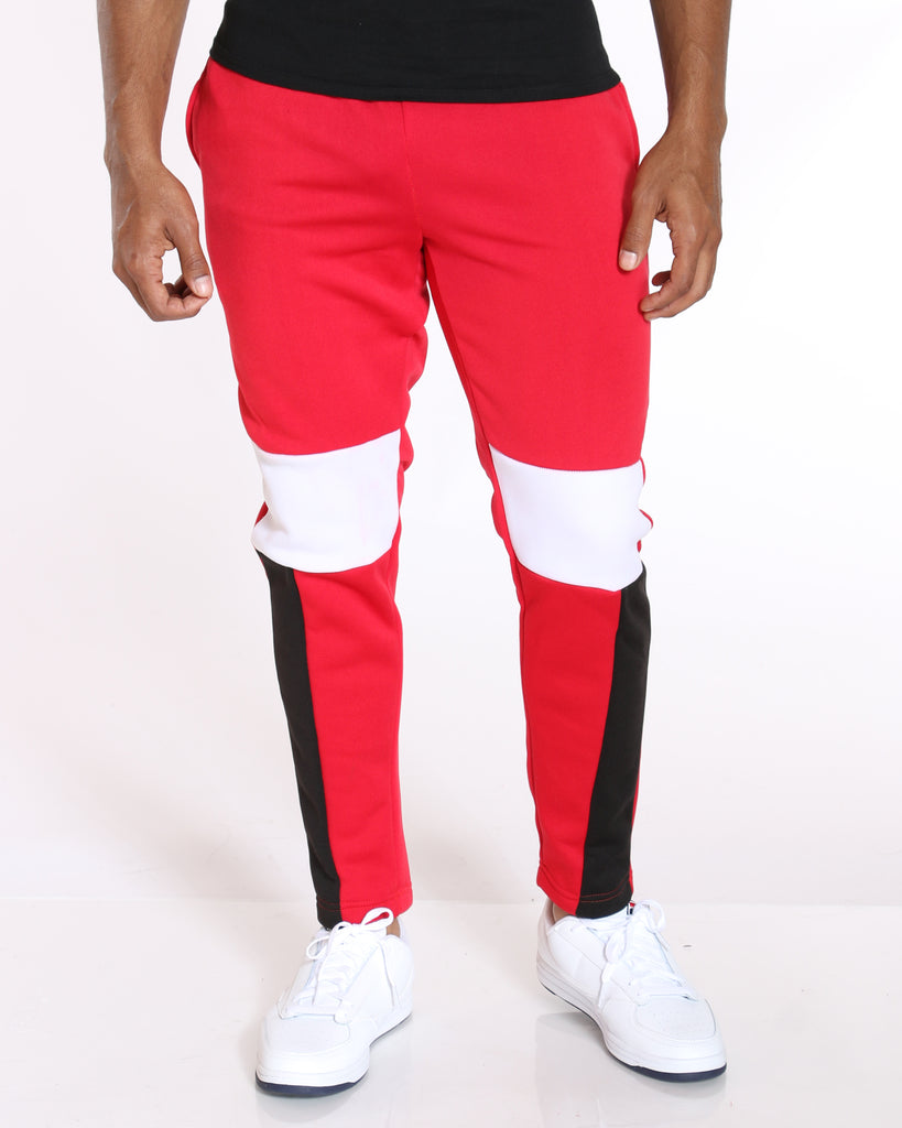 VIM Carl Color Block Fleece Pant - Red - Vim.com