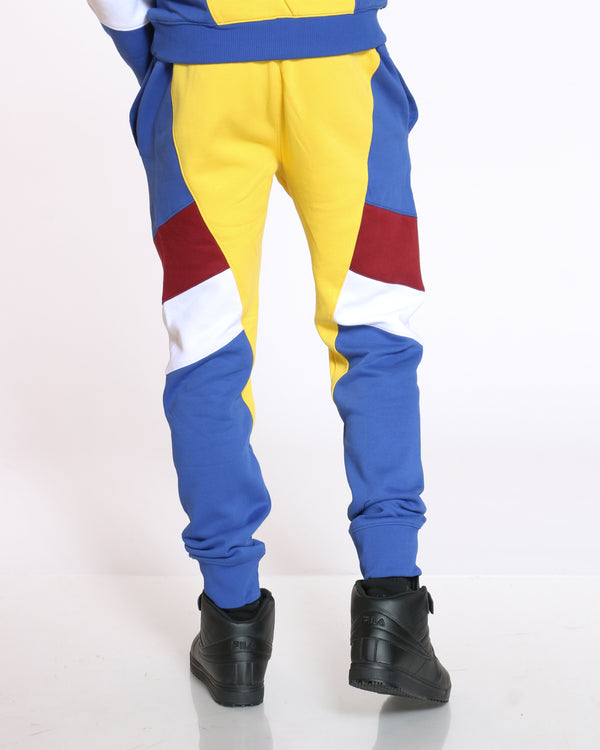 Men's Love Heart Patch Color Block Jogger - Yellow Royal