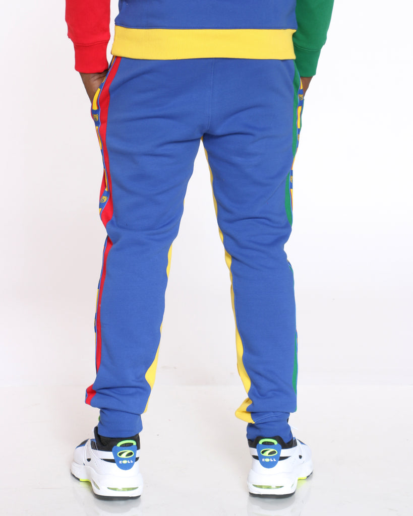 Fred Bear Chenille Patch Color Block Jogger - Royal