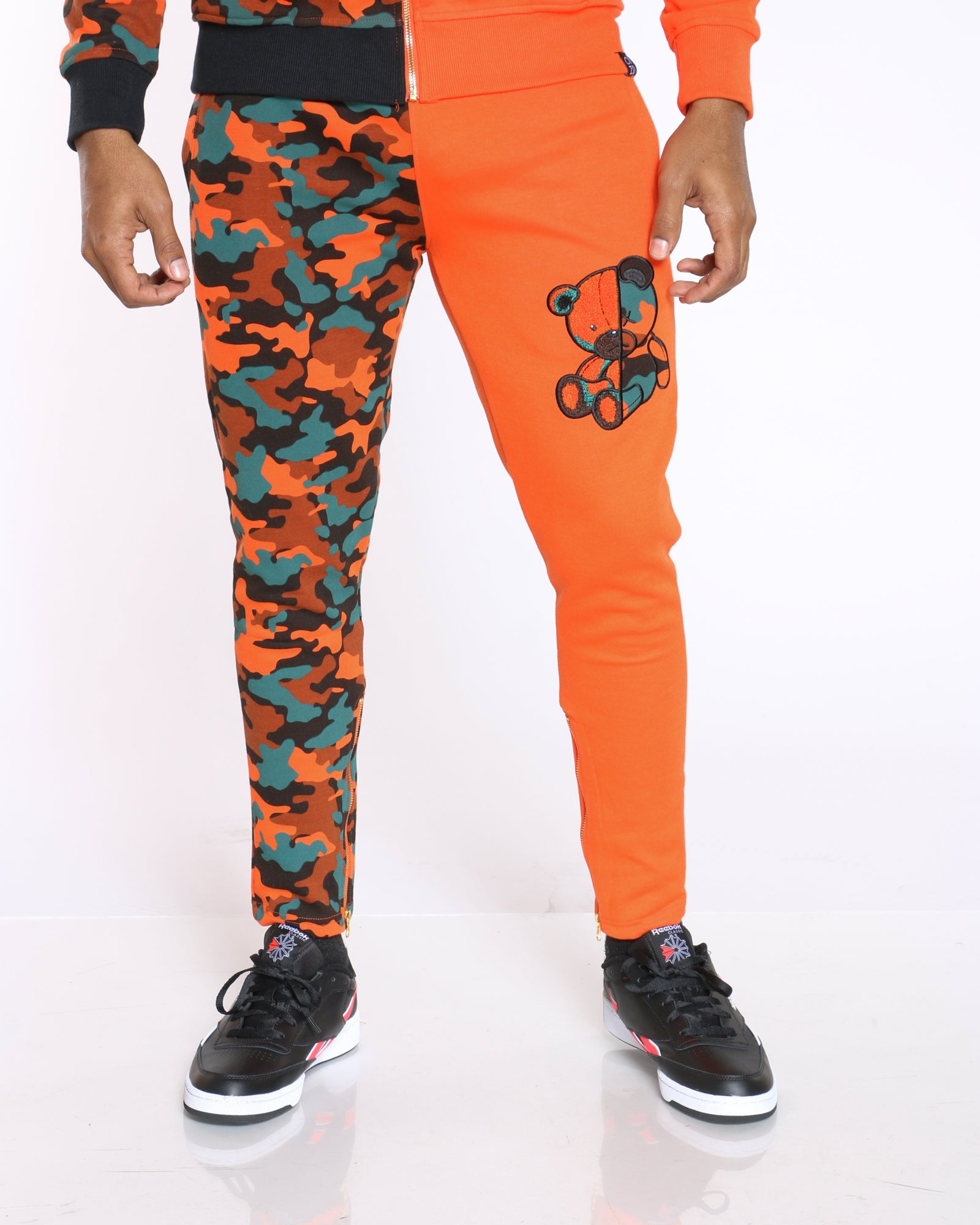 Men's Teddy Split Camo Bear Jogger