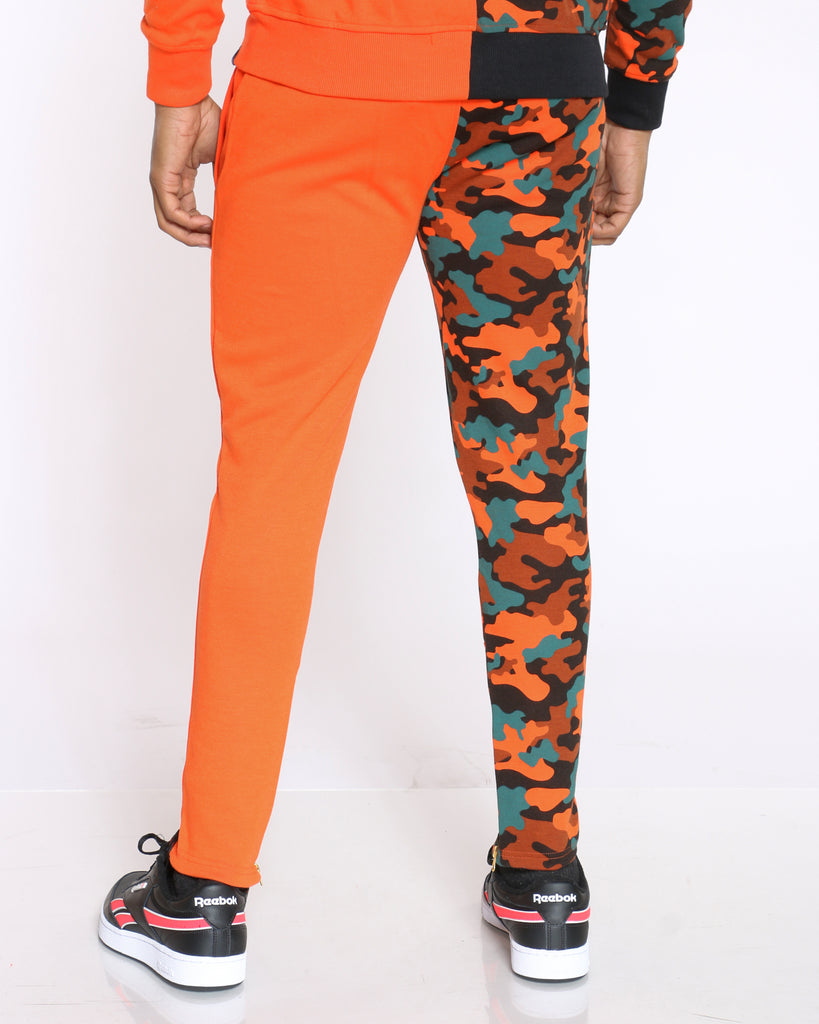 Teddy Split Camo Bear Jogger - Orange