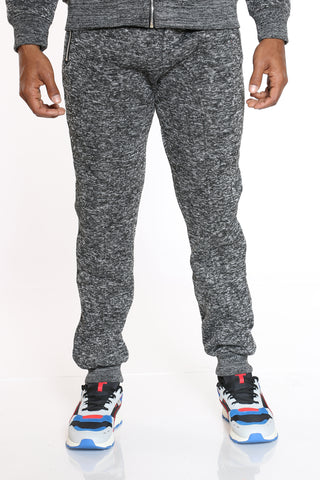 Men's Heavy Marled Fleece Jogger - Charcoal-VIM.COM