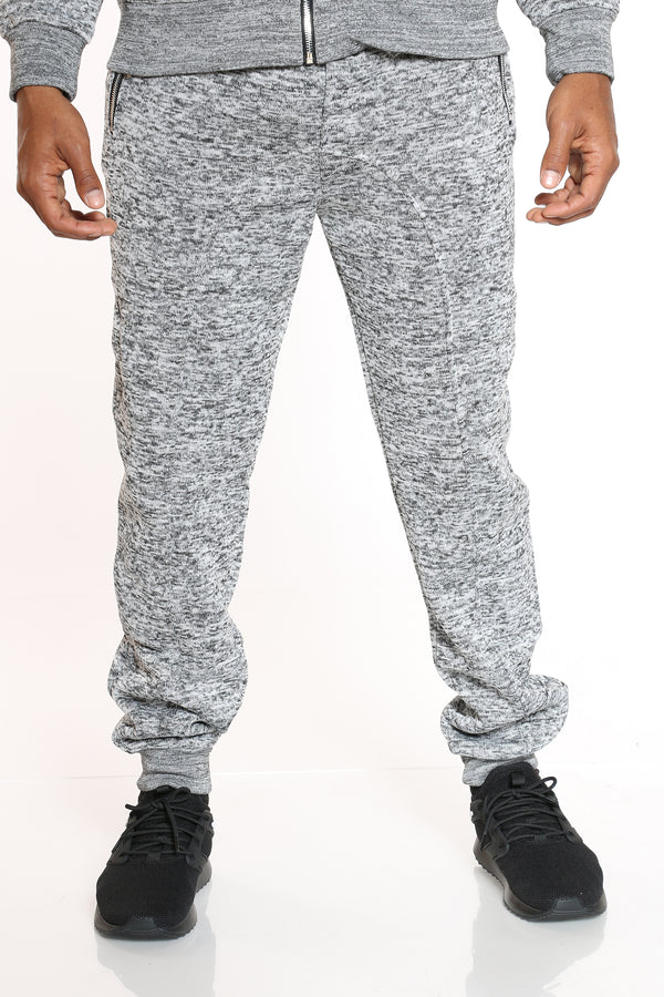 Men's Heavy Marled Fleece Jogger - Medium Grey-VIM.COM