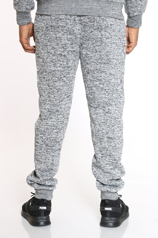 Men's Heavy Marled Fleece Jogger - Medium Grey