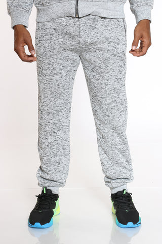 Men's Heavy Marled Fleece Jogger - Light Grey-VIM.COM