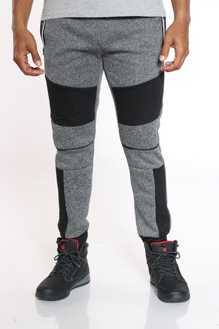 Men's Moto Fleece Jogger - Charcoal-VIM.COM