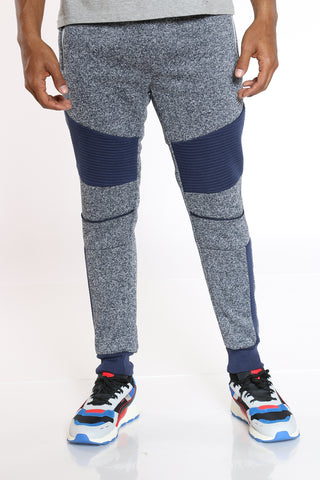 Men's Moto Fleece Jogger - Navy-VIM.COM