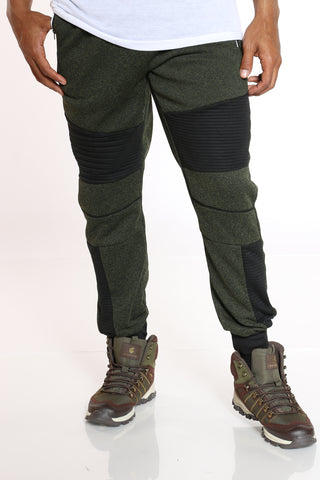 Men's Moto Fleece Jogger - Olive-VIM.COM