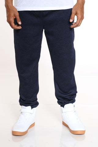 Men's Marled Fleece Jogger - Navy-VIM.COM