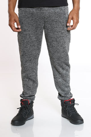 Men's Marled Fleece Jogger - Charcoal-VIM.COM