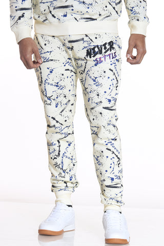 Men's Never Settle Stones Jogger - Ivory-VIM.COM
