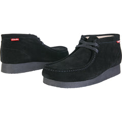 Clarks - Men's Stinson Hi Wallabee Boot - Black Suede - V.I.M. - 4