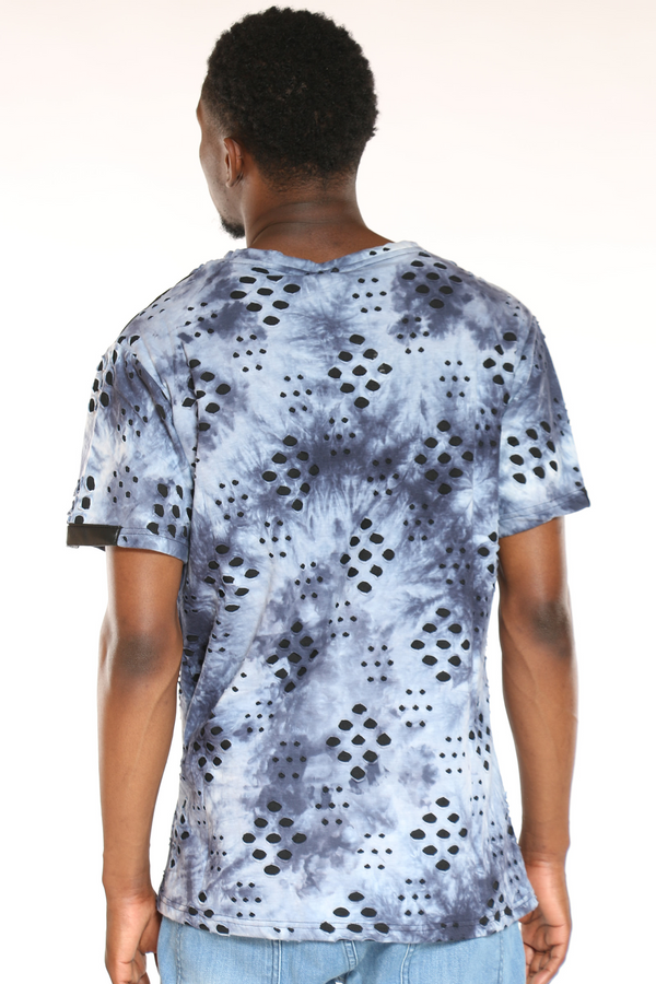 Men's Marled Front Pocket Tee - Blue
