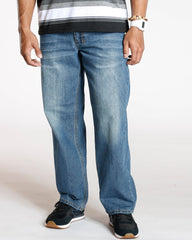 VIM Relaxed Fit Embroidery Pocket Jean - Medium Denim - Vim.com