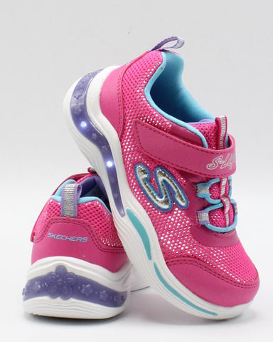 SKECHERS S Lights Power Petals Sneaker (Toddler) - Pink - Vim.com